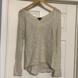 American eagle cream sweater with sparkles 4/$25